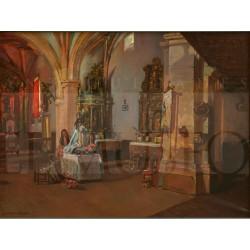 Hispaleto - Interior de iglesia con vestidoras