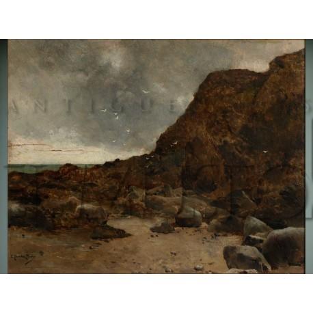 Sánchez Perrier - Playa con rocas