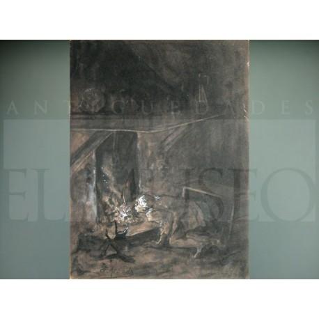 José Jiménez Aranda - Soplando el fuego