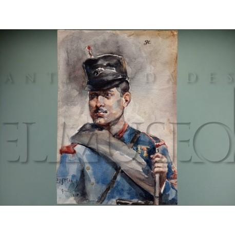 Diego Marín López - Retrato de soldado
