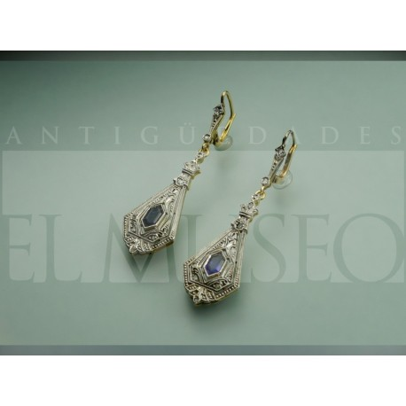 Art-deco earrings