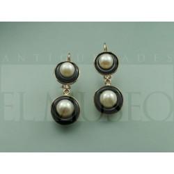 Pendientes de ónix y perlas